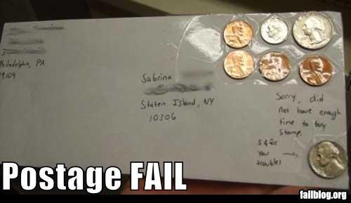 postage fail