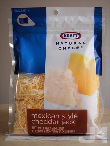 redesigned kraft shredded cheese package