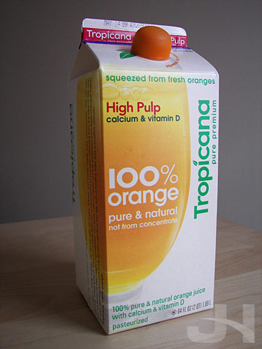 redesigned tropicana carton