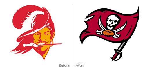 buccaneers before, after