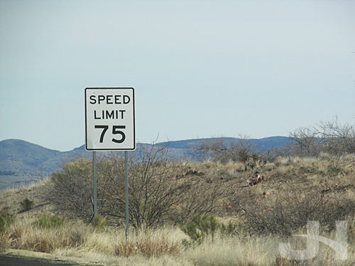 speed limit in highway gothic