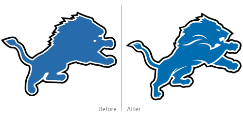 lions before, after