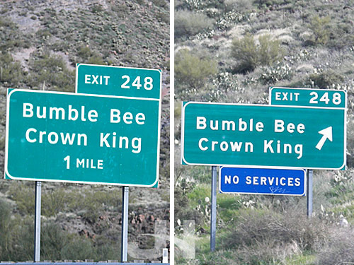 road sign comparison