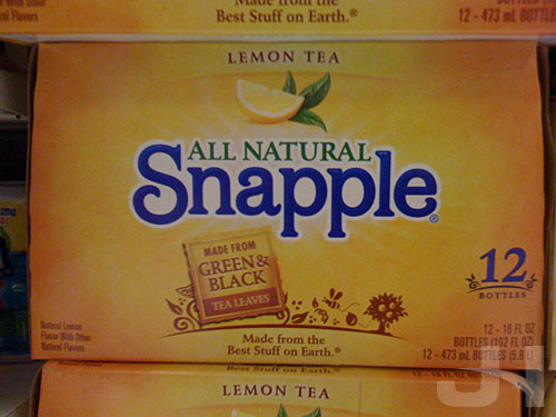 new snapple boxes
