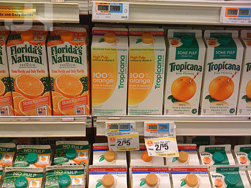 tropicana on the shelf