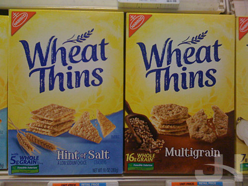 new wheat thins packaging