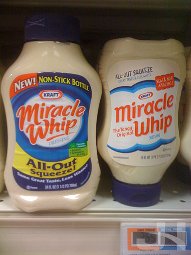 miracle whip old and new packaging