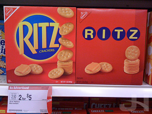 retro ritz packaging