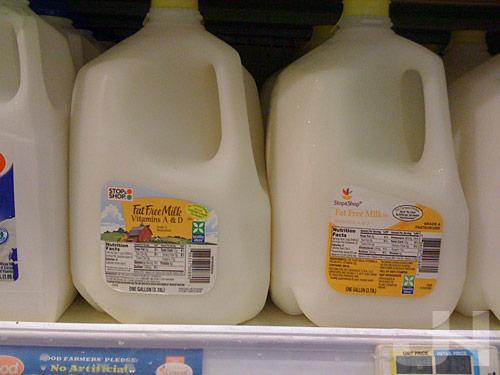 stop and shop milk jugs