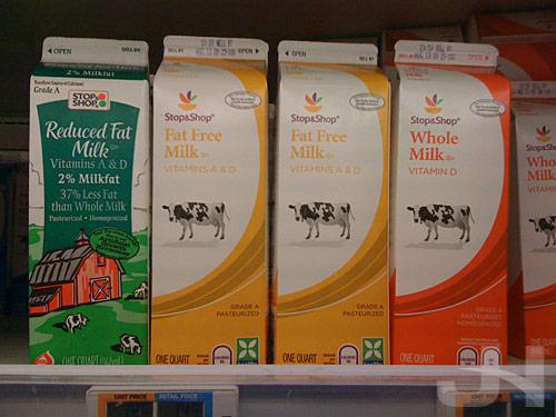 stop and shop milk cartons