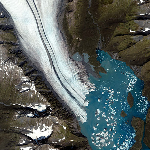 glaciers from space