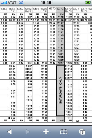 Train schedule in nyc