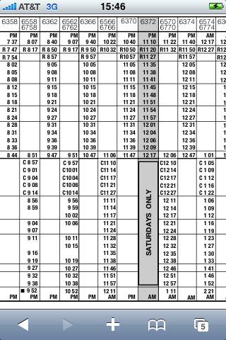 Nyc subway train work schedule
