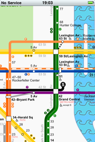 myphone in nyc: subway map