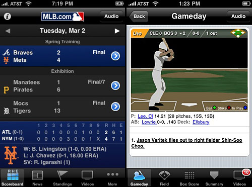 mlb at bat iPhone app