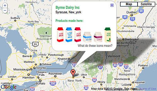 target milk map
