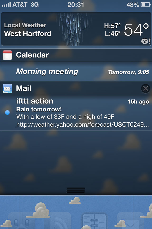 proposed iphone notification center