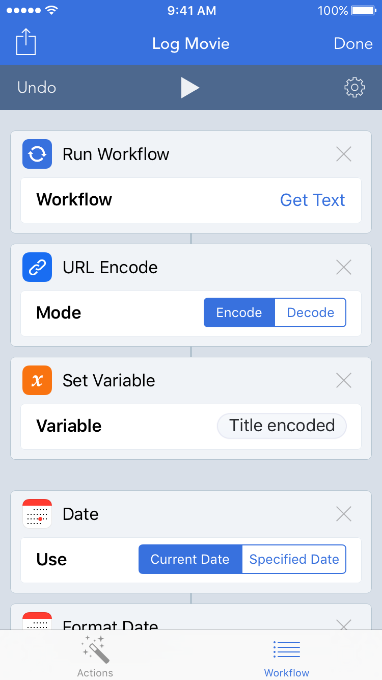 Run Workflow Selected